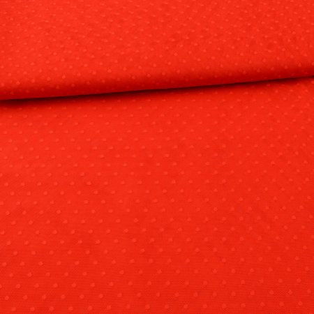 Soft Tulle Fabric Dots fire red