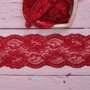 Elastic Lace Flower Dream Bordeaux 9,5cm