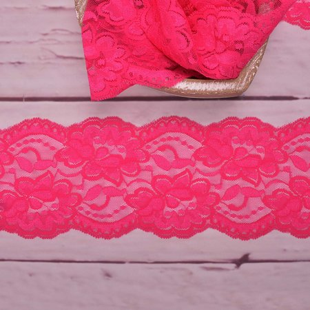 Elastic Lace Flower Dream Pink 9,5cm