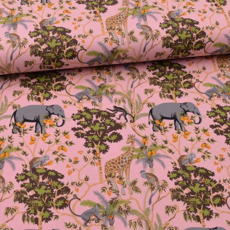 Jersey jungle animals - pink