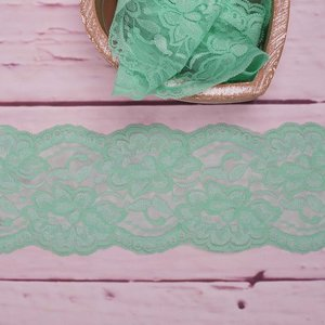 Elastic Lace Flower Dream Mint 9,5cm