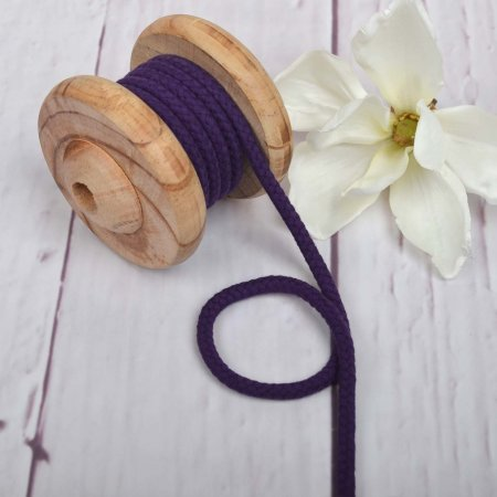Cotton Cord Purple 8 mm