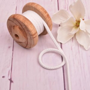 Cotton Cord Cream 8 mm
