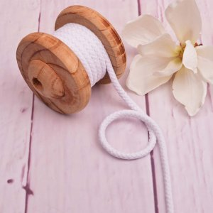 Cotton Cord White 8 mm