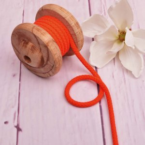 Cotton Cord Orange 8 mm