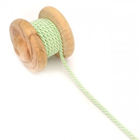 Twisted Artificial Silk Cord mint 6mm