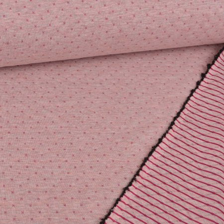 Quilted Doubleface Diamond Pattern Berry on Light Pink