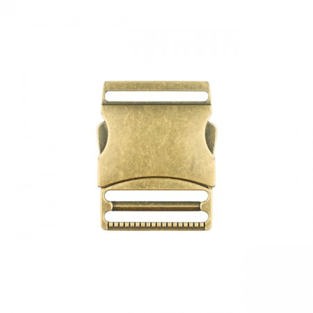 Bag Closure quick-release buckle metal - 40 mm dusky gold