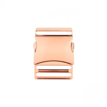 Bag Closure quick-release buckle metal - 40 mm rose gold