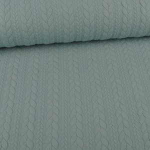 Knit Jaquard Knitted Fabric with Braid Pattern Mint