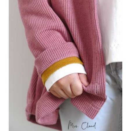 Knit fabric heavy knit - Dusky pink
