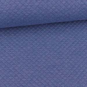 Quilted Diamond Pattern small medium Blue Melange