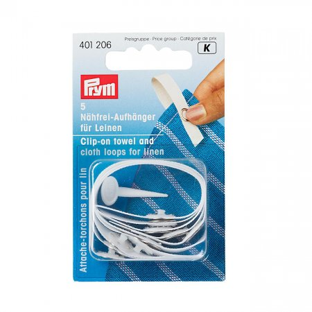 Hanging Loop, Linen, White, Pack of 5 (401206)