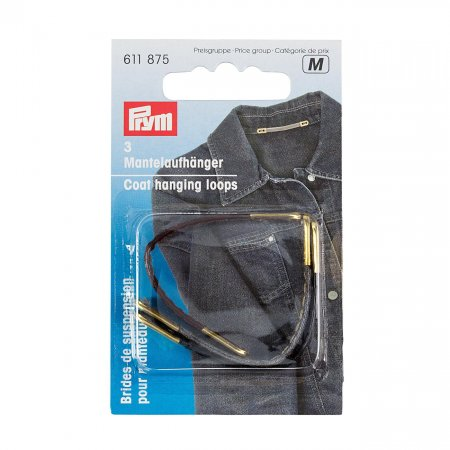 Coat Hanging Loop, Leatherette, Colour Assorted, Pack of 3 (611875)