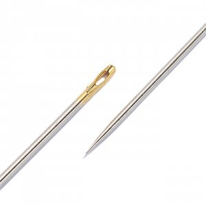 Sewing Needles half Length, with Gold Eye, No.3-7,...